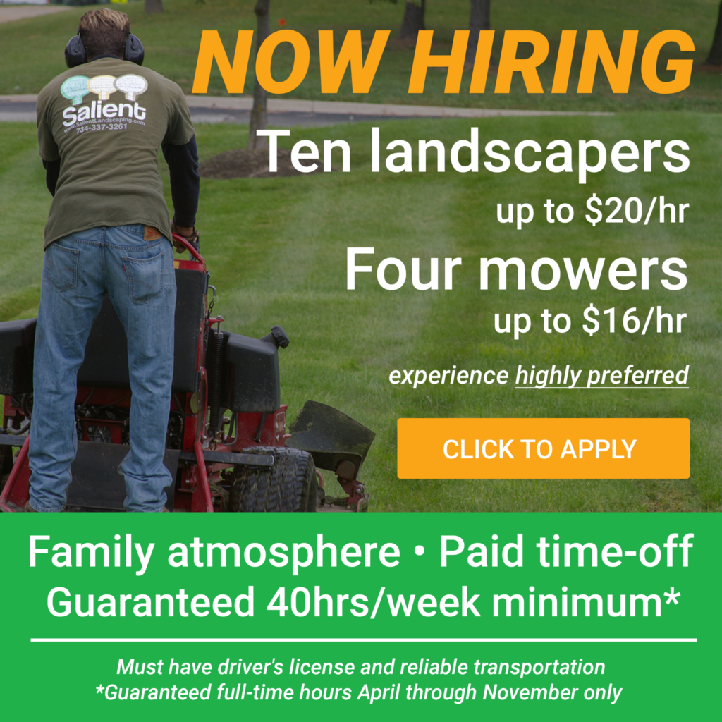 Salient Landscaping Now Hiring